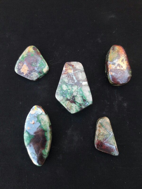 Native Copper Cabochons, Morenci, Arizona