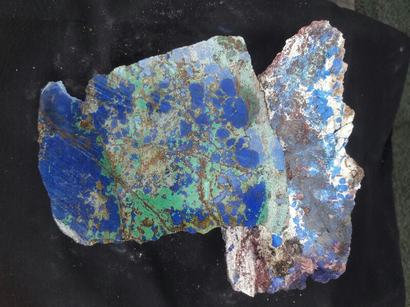 Azurite and Malachite in Matrix Rough, Morenci Arizona